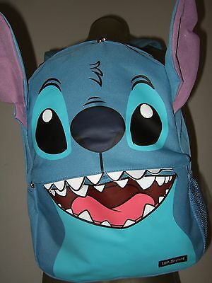 Disney Lilo and Stitch Face Alien Character Ears Backpack School Book Laptop Bag