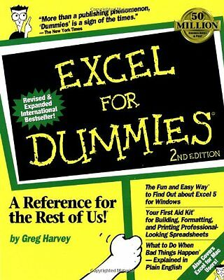 Excel For Dummies 2nd Edition By Greg Harvey. 9781568840505