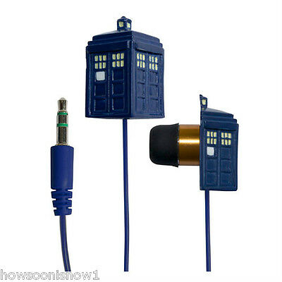 WHOLESALE LOT OF 12 Doctor Who TARDIS Earbuds Ear Buds Underground Toys C.O.