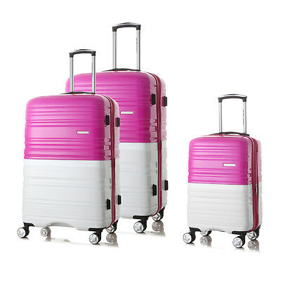 3Pc Luggage set 4 Spinner wheels Trolley Suitcase TSA Lock Travel Carry on Bag