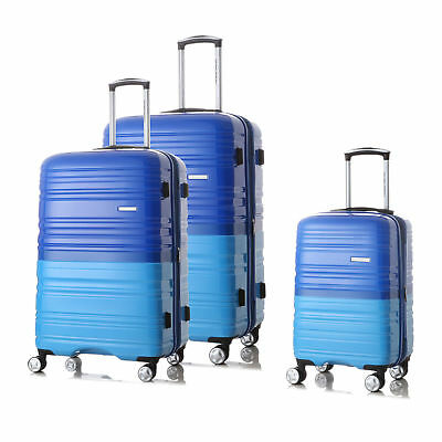 3PCS Luggage Set Spinner Wheels Trolley Suitcase TSA Lock Travel Carry on Bag