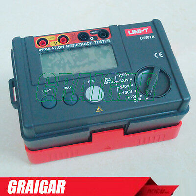 UNI-T UT501A 1000V Insulation Resistance Meter Earth Ground Megohmmeter w/LCD