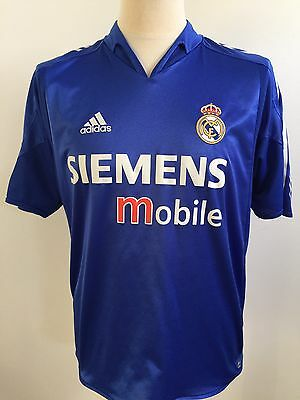 REAL MADRID 2004-2005 Third Away Football Shirt Adidas Size M Medium