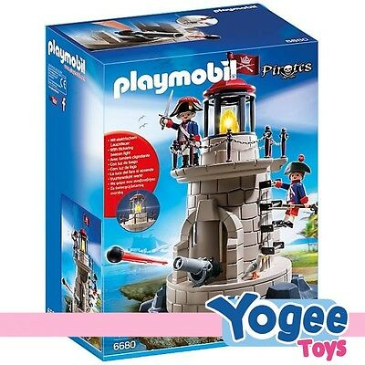 Playmobil Pirates 6680 Soldier Tower With Beacon
