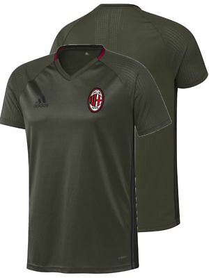 Ac Milan Adidas Training Shirt Green 2016 17 Short Sleeves Adizero Men