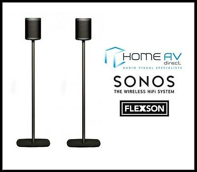 Flexson FLXP1FS2021 Floor Stand / Mount for Sonos PLAY:1 - PAIR - Black
