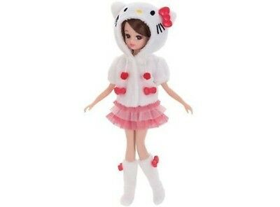 NEW Licca-chan Hello Kitty Daisuki Room Wear Doll-Rikachan by Takara Tomy,Sanrio