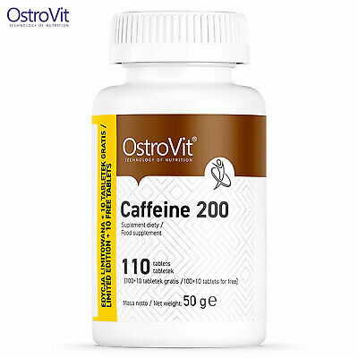 OstroVit Caffeine 200 mg 110 Tablets - Energy & Endurance - Pre-workout Booster