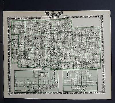Illinois, County Map, 1876 Ogle County Q1#41