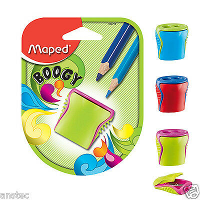 NEW HELIX MAPED BOOGY CANISTER 2 Hole Pencil Sharpener (062210)