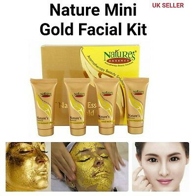 Natures Gold Facial Kit Gold Gel,cream,scurb,pack & Face Wash Do Facial At Home
