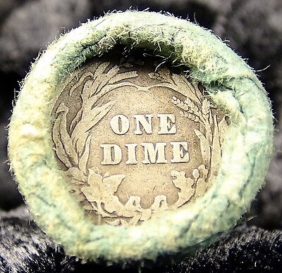 Liberty Head Barber Dime Collector Full Roll of 50 Silver Barber Dimes