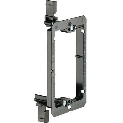 Single 1-Gang Drywall Bracket Face Wall Plate Mount Mud Ring Low Voltage LV1