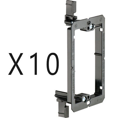 10 Pack Lot Single Gang Low Voltage Wall Plate Mounting Bracket Drywall Retrofit