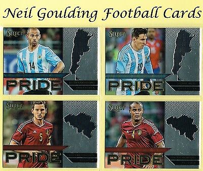 Panini SELECT SOCCER 2015-16 NATIONAL PRIDE Football Insert Cards #1 to #50