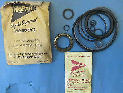 NOS power steering O ring & seal pkg 1962-69 Plymouth Dodge