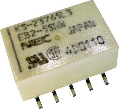 NEC Miniature Single Coil Latching DPDT Relay 5V 1A SMD SMT EB2-5SNW-L