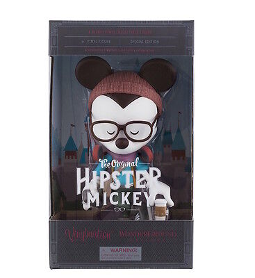 "Disney Vinylmation Hipster Mickey By Maruyama 9"" New With Box"