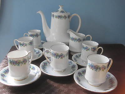 Vintage (70's) Royal Standard 15 pce / 6 cup Coffee Set, Carnival