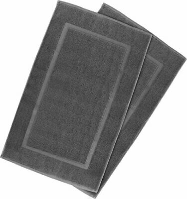 NEW Utopia Towels 21 Inch by 34 Inch Cotton Washable Bath Mat 2 Pack Smoke Gray