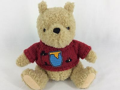 Gund Classic Pooh Plush Stuffed Animal Knitted Red Sweater With