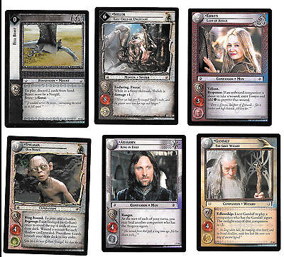 6 Lord Of The Rings Promo cards Lot ! Set of 6 TCG LOTR Decipher