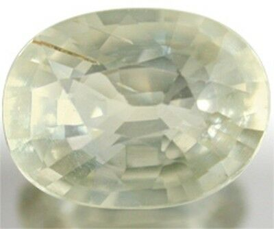 Best Pale Lime Green SAPPHIRE 9x6.7mm Oval Cut 1.97 Ct.