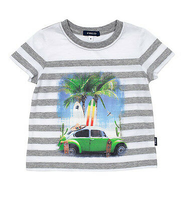 Fred Bare Boys Baby Summer Beetle Printed Tee With Round Neck