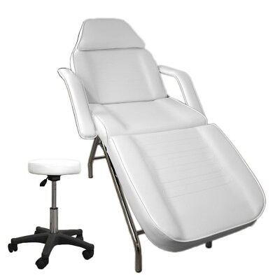 White Massage Table Facial Portable Chair Bed Beauty Therapy White Stool Pack