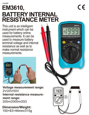 Battery Internal Resistance Meter Lithium Battery Terminal Voltage Tester allsun
