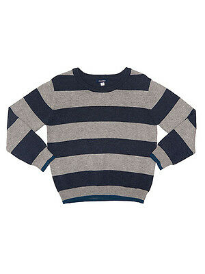 Fred Bare Boys  Animal Striped Navy/grey Knitted Jumper Pullover