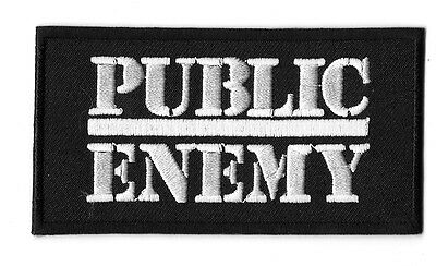 New Public Enemy  2 X 4  Inch Iron on Patch Free Shipping