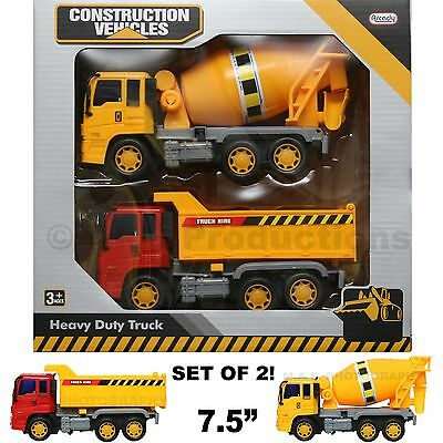 construction truck toy dump cargo cement mixer vehicle friction