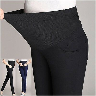 Skinny Pants Trousers Tight Overbumped With Cotton Band Slim Comfy 8 10 12 14 16