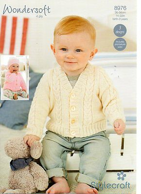 Stylecraft 8976 - Baby 4PLY KNITTING PATTERN -not the finished items