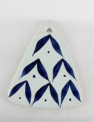 a blue & white trivet plate / wall plaque by Marianne Westman for Rorstrand.
