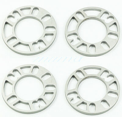 4 X 10Mm Alloy Wheel Spacers Shims Spacer Car Universal 4/5 Stud Fit