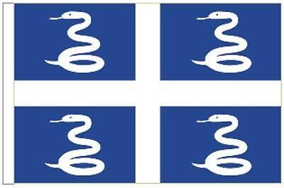 France Martinique Sleeved Courtesy Flag ideal for Boats 45cm x 30cm