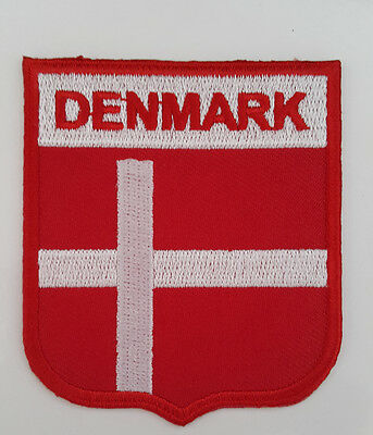 DENMARK Nation Country Flag Embroidered Sew/Iron On Patch Patches