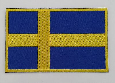 SWEDEN  Nation Country Flag Embroidered Sew/Iron On Patch Patches