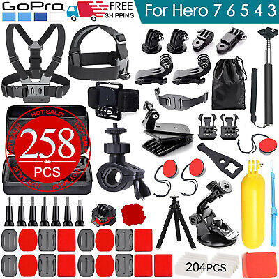 Accessories Pack Case Chest Head Floating Monopod GoPro Hero 7 6 5 4 3+ 2 161pcs