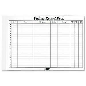 Concord Visitors Book Refill Pack of 50 Sheets 2000 Entries 230x355mm