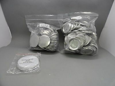 100 Metal Pin Badge Set Upper Fronts Backs Mylar Badge Minit Button Press Maker