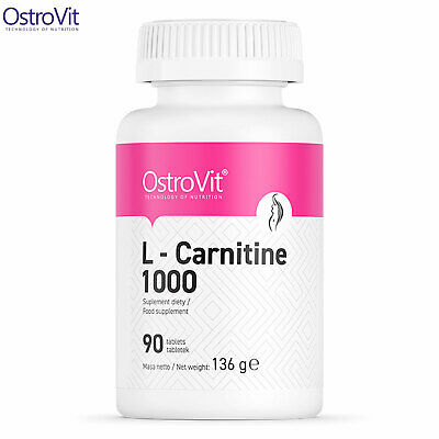 L-Carnitine 1000 90/180 Tablets Fat Tissue Reduction Burner Slimming Weight Loss