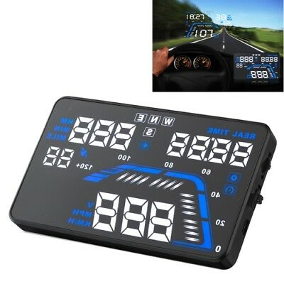 HI-TECH Q7 5.5 inch Car GPS HUD Vehicle-mounted Head Up Display Security System