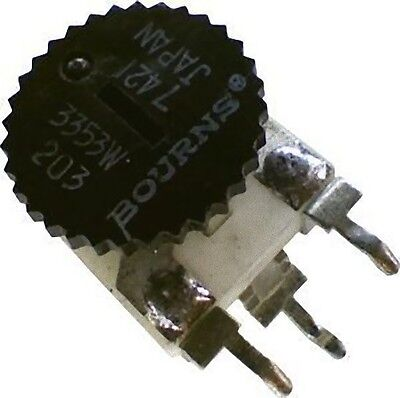 Bourns Thumbwheel Potentiometer Trimmer 20K 3353W-1-203 Vertical Mount 1/3W 350V