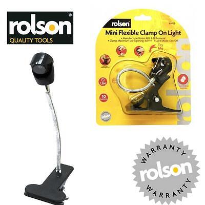 ROLSON Mini Flexible Clamp Clip On Light Battery Powered 10 Lumens LED    AA25