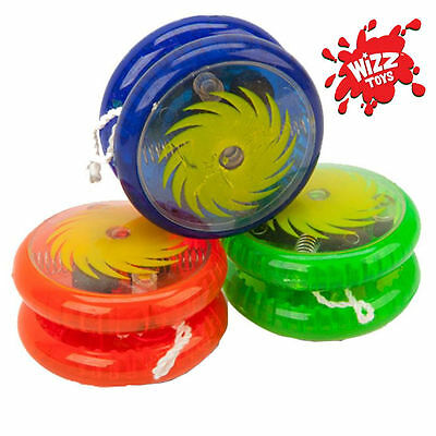 "YO YO LIGHT UP CLUTCH TRICKS YOYO 2"" COLOUR KIDS TOY Children Party Bag Fillers"