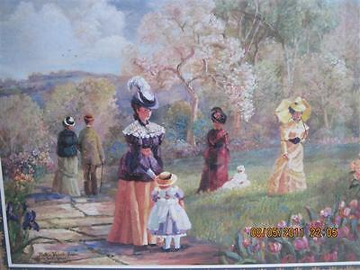 "Home Interiors: Victorian Days in the Park 25"" x 31"""