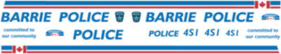1/43 Scale Barrie Ontario Police Decals -  Does 5-6 Chevy Tahoe's